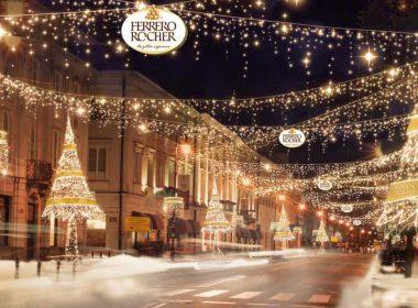 Рождественская иллюминация в Варшаве