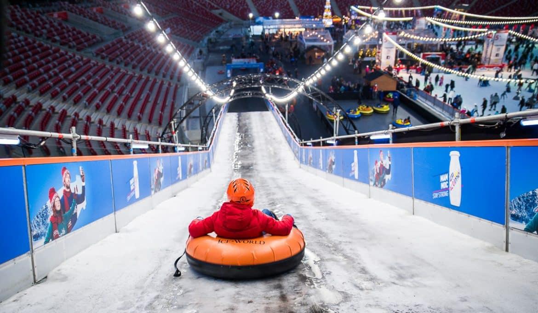 Ледяная горка на национальном стадионе