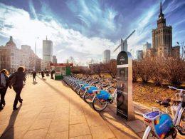 Велосипеды ветурило в Варшаве