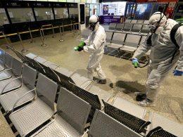 Дезинфекция автовокзала в Варшаве