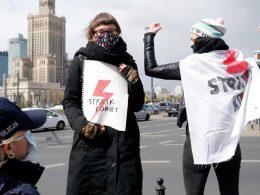 В Варшаве проходят протесты против запрета абортов