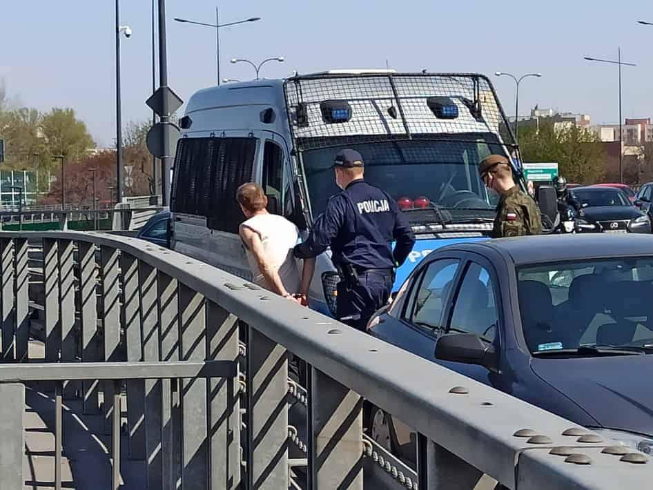 В Варшаве задержан пьяный водитель