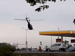 Вертолёт под Варшавой залетел на заправку