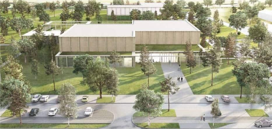 Недавно, среди архитекторов прошел конкурс на проект нового бассейна в Пясечно. Выиграл проект вроцлавской студии Maciej Popławski Pracownia.
