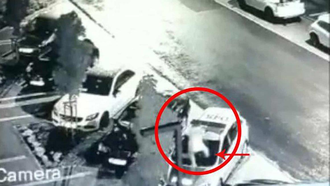 Подросток повредил полицейский автомобиль