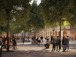 Plac Pięciu Rogów (Площадь Пяти Углов), место, где улицы Zgoda, Bracka и Szpitalna пересекаются с улицей Chmielna вскоре подвергнется реконструкции.