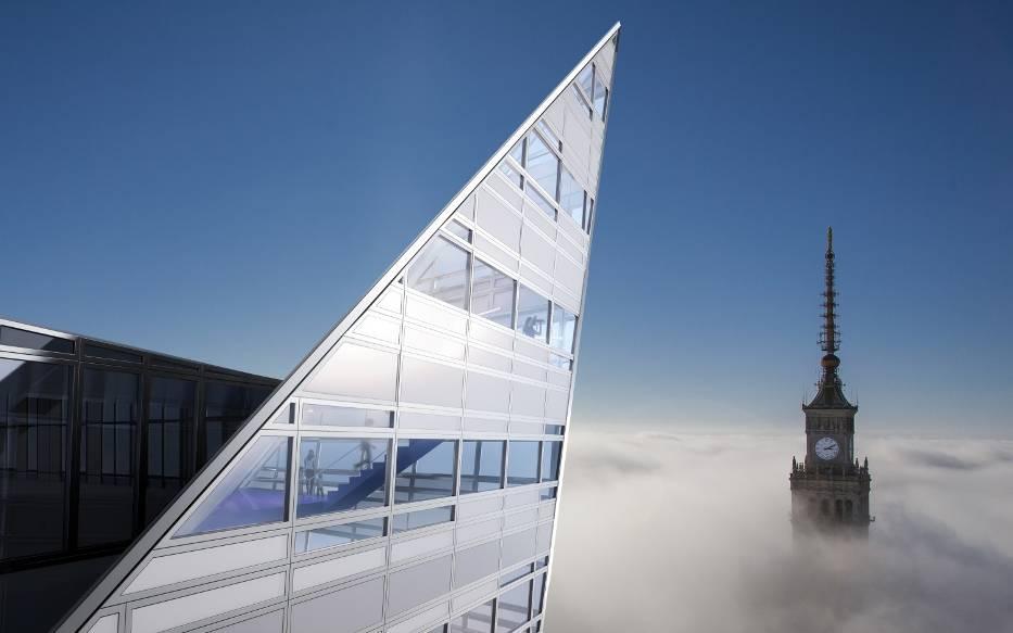 """Небоскрёб под названием """"Żagiel Libeskinda"""" на Złota 44 в Варшаве состоит из люксовых апартаментов. Недавно, были проданы самые дорогие из них - трёхэтажный пентхаус на вершине здания."""