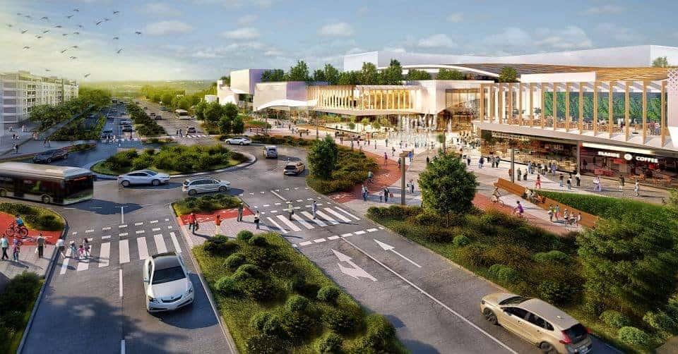 На Урсынове построят новый торговый центр с садом на крыше