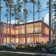 лесной детский сад и библиотека