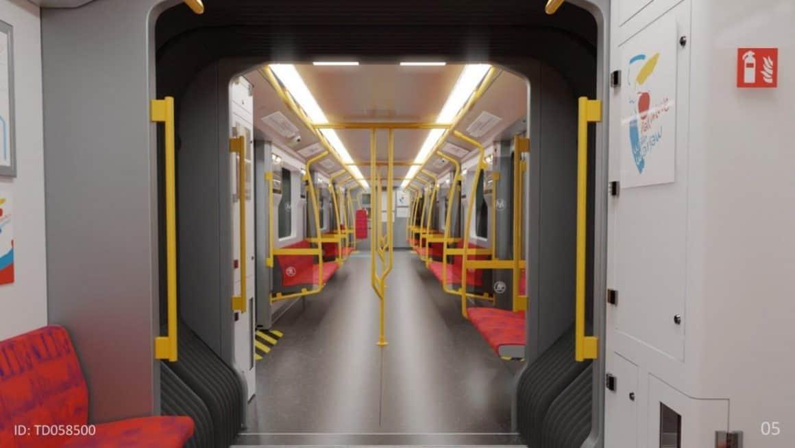"""По 230 сидячих мест, информационные экраны и современные решения для пассажиров – вот что представляют из себя новые поезда для варшавского метро """"Varsovia"""" от Skoda."""